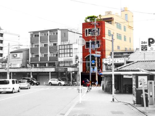 Block of Building for Airbnb and Leasing, on Yokai street near Kitanotenmangu Shrine, for Sale in Kamigyo Ward