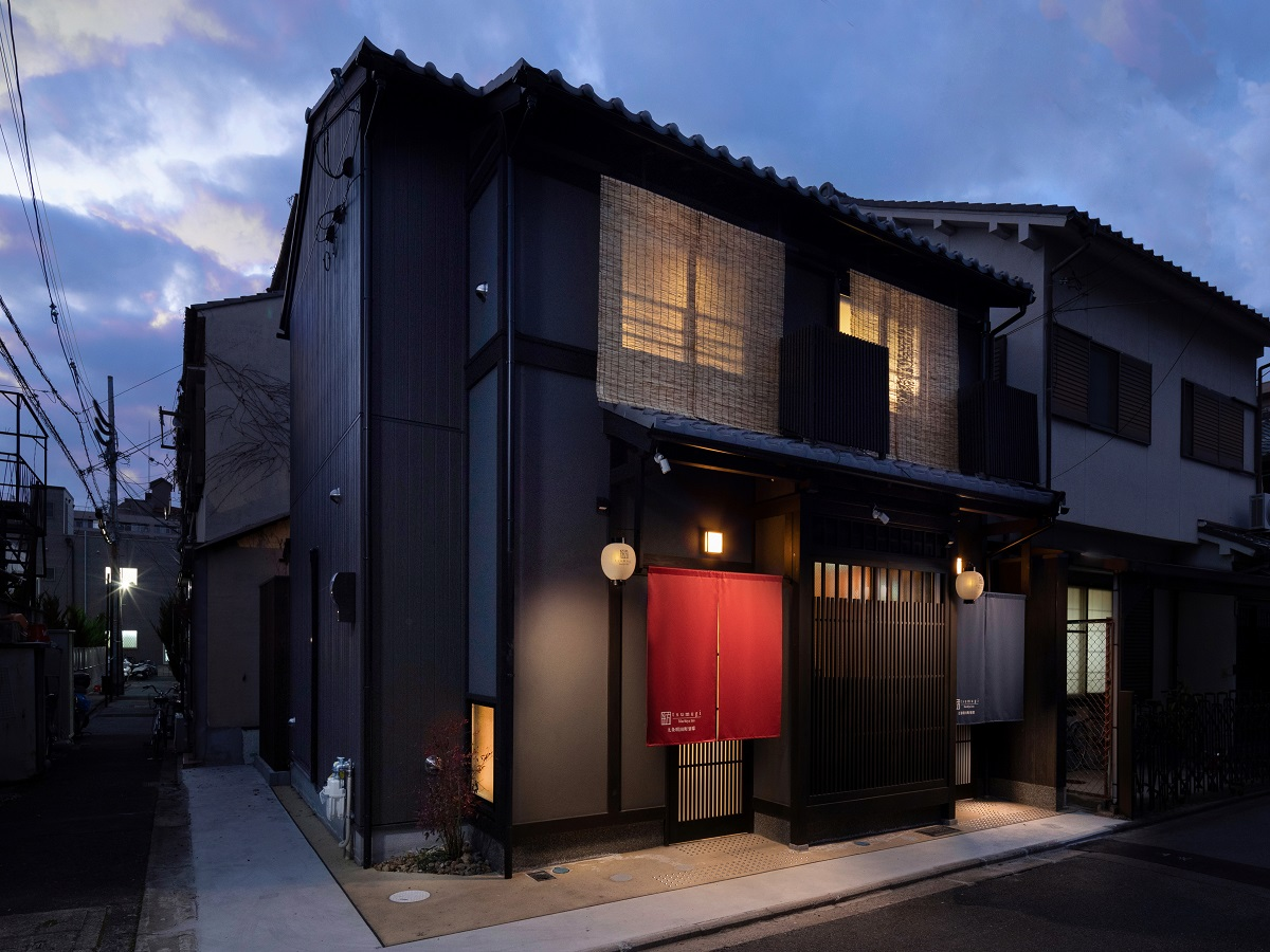 Guesthouse near subway Kujo sta., Building in 2019, Ryokan House for Sale in Kyoto