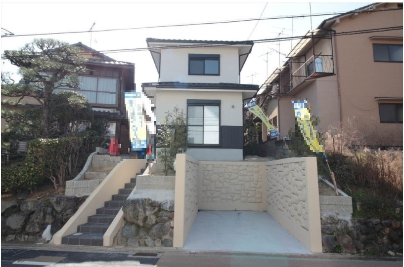 New House with Car Garage, in Kinugasa Akasaka-cho near Kinkaku-ji Temple,  for Sale in Kita Ward
