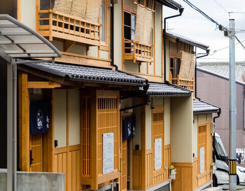 Renovated 3-Attached Houses in Murasakino Gonoue-cho, Ready for Guesthouse, for Sale in Kita Ward, Kyoto