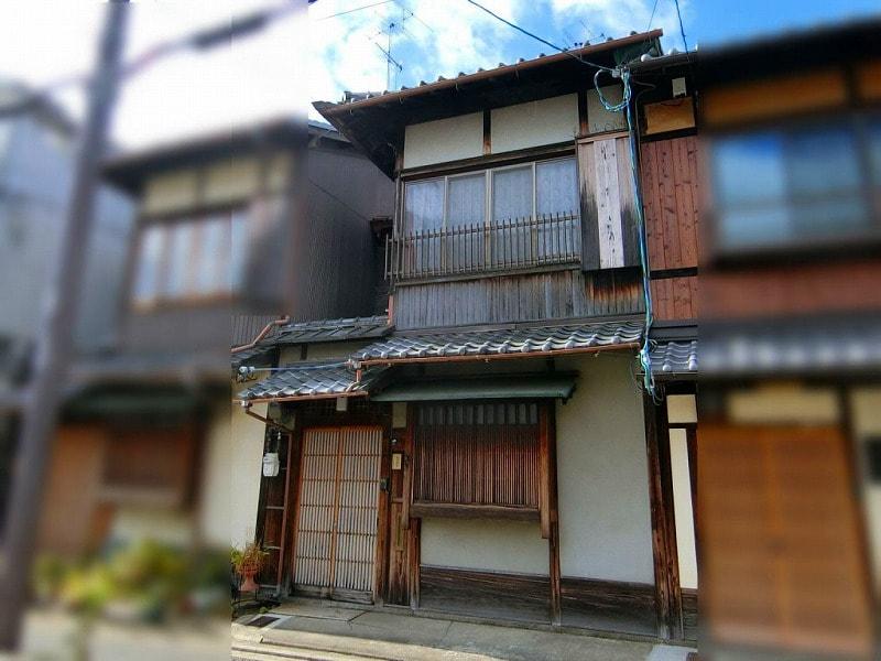 Machiya on Teramachi st., locating close to Kamo-gawa River in Kamigyo, Kyoto